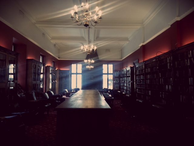Shot of the library from the door